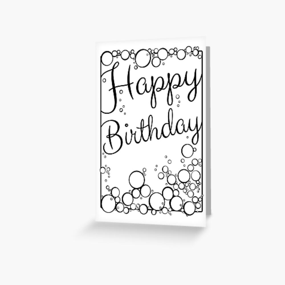 Bubbly Happy Birthday Greeting Card