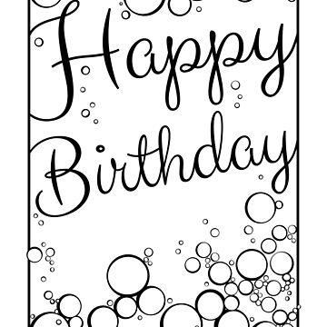 Bubbly Happy Birthday by MaijaR