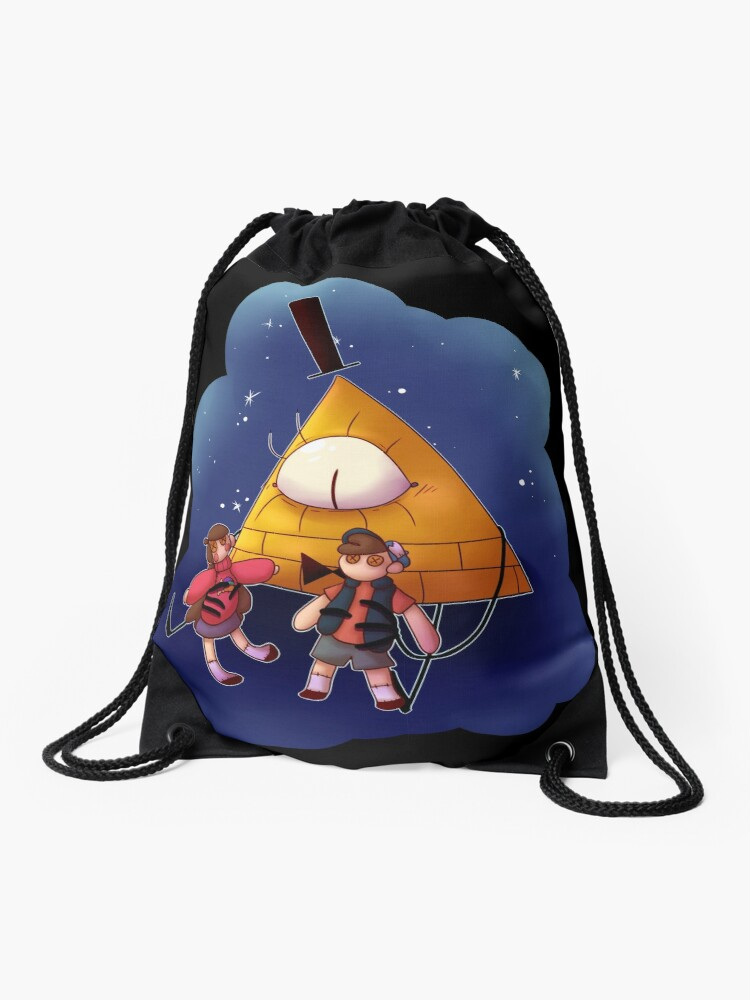 Gravity Falls Bill And His Toys Drawstring Bag By Shadehlyne Redbubble