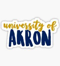 University of Akron Sticker