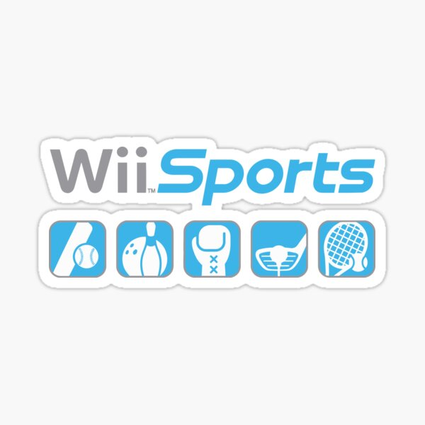 wii sports meme with icons Sticker