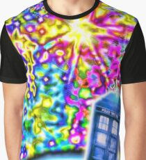 Tardis in a Psychedelic Universe Graphic T-Shirt