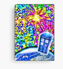 Tardis in a Psychedelic Universe Canvas Print