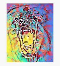 Watercolor Bear Photographic Print