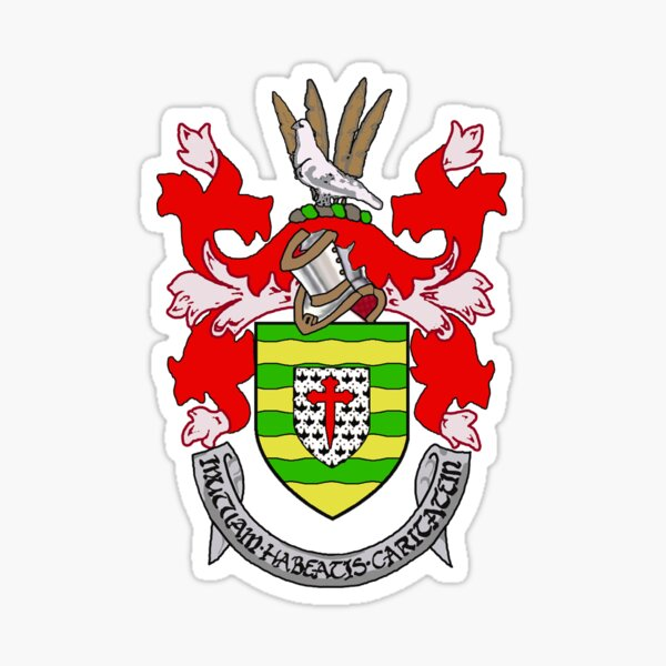 Coat of Arms of County Donegal, Ireland Sticker