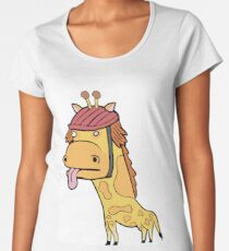 Albert the Giraffe Women's Premium T-Shirt