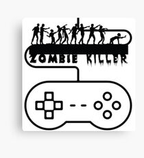 Zombie Killer Gamer Canvas Print