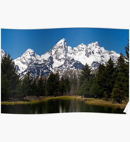 """Midday """"Grand"""" View - Teton National Park Poster"""