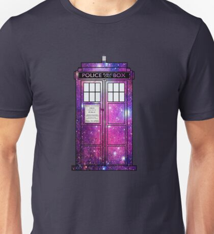 Starry Police Public Call Box. Unisex T-Shirt