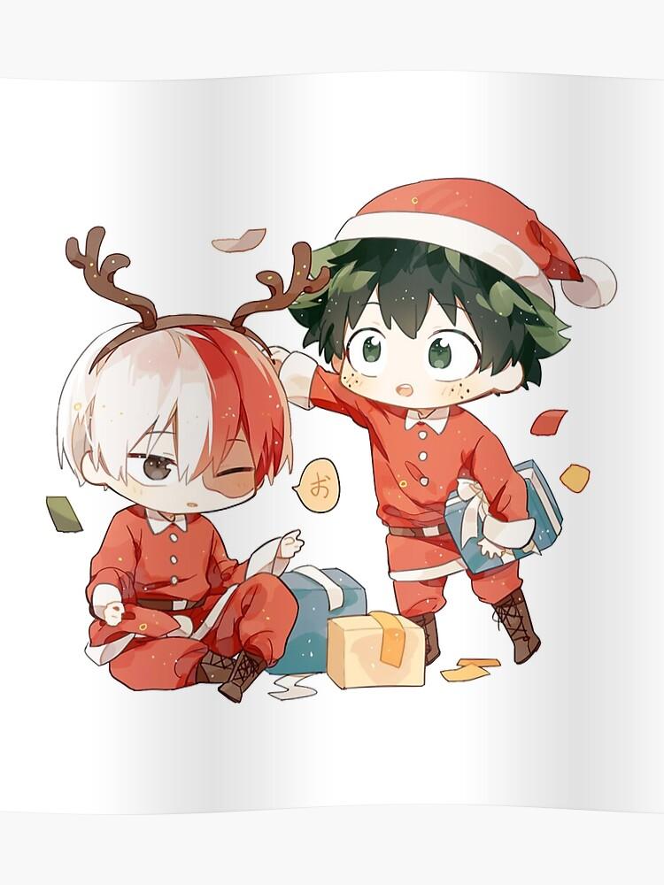 Christmas Poster.Deku Shoto Christmas Poster