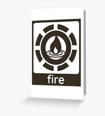 Fire Elements Design Nature Gift Idea Greeting Card