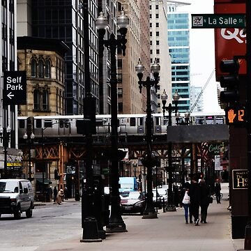 LaSalle Street - Chicago  by Laurynsworld