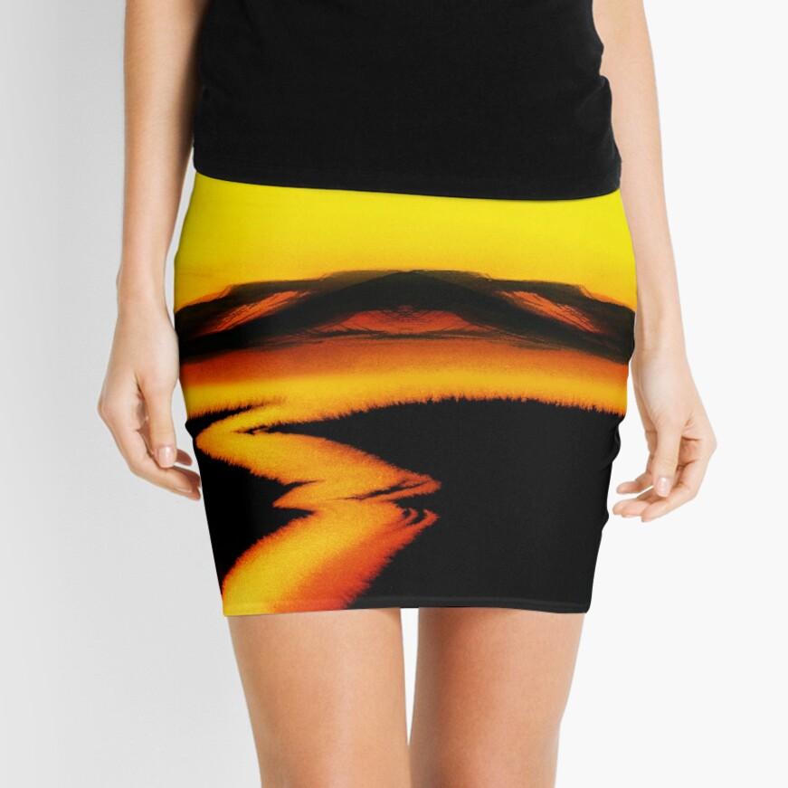 Deep Red Mini Skirt
