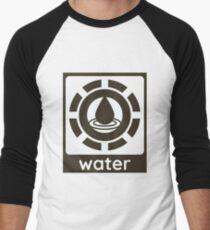 Water Element Design Nature Gift Idea Men's Baseball ¾ T-Shirt