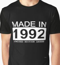 Made In 1992 Limited Edition Legend - Born in 1992  Graphic T-Shirt