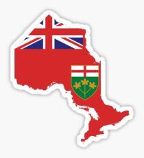 Ontario Flag Map  Sticker