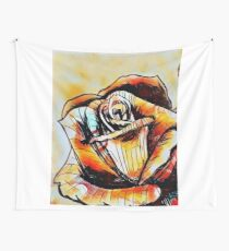 Watercolor Rose Wall Tapestry