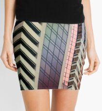 lines, patterns and perspective Mini Skirt