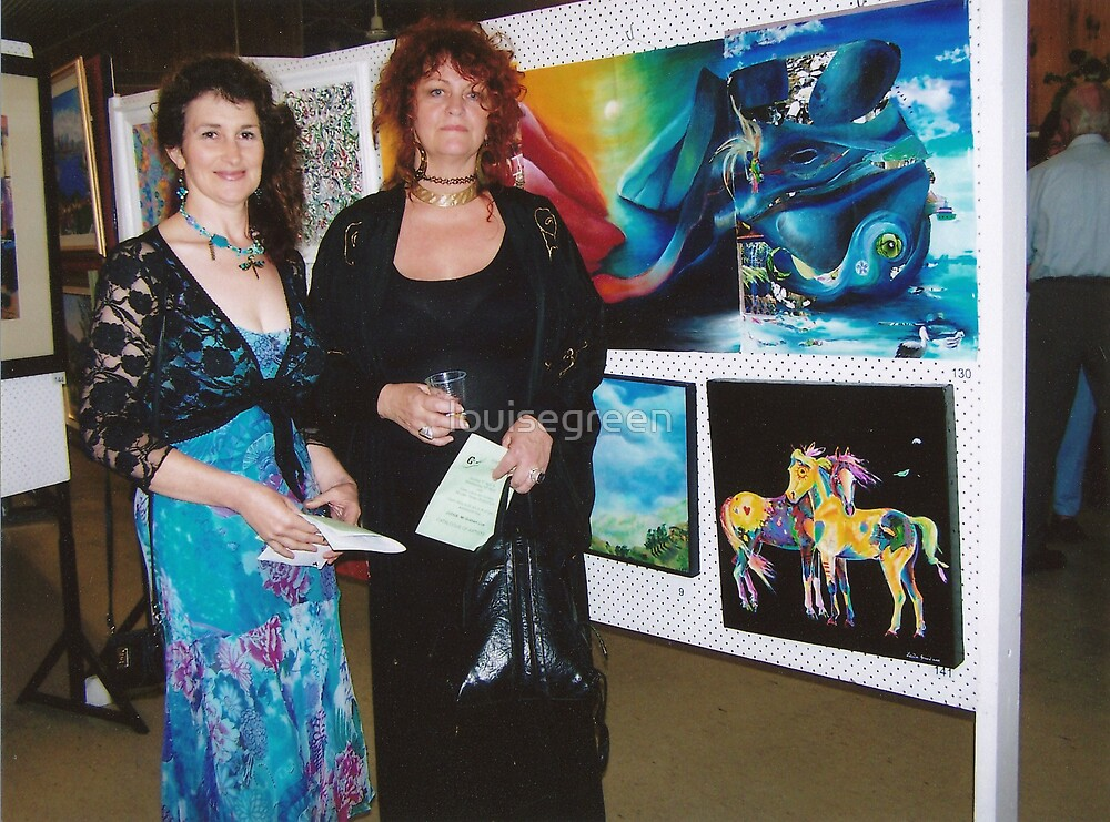 Lou & Mazz, Forster Art Exhibition 2009 by louisegreen