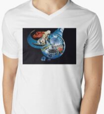 2001: A Space Odyssey Ship Map Men's V-Neck T-Shirt