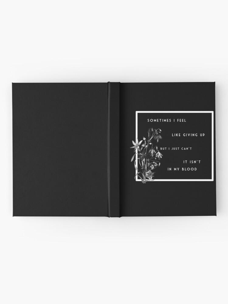 Alternate view of flower  Hardcover Journal