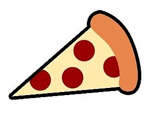 Simple Artwork Pizza Slice By Moonbri Redbubble