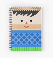 Cuaderno de espiral  Muñeca de Trapo Hombre (Male Mexican Cloth Doll) Square Friends (Blue and Green)