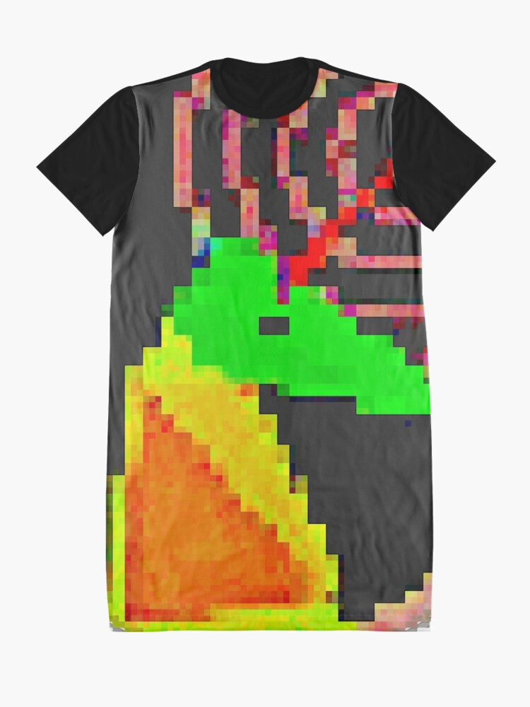Alternate view of UNIKORN PIXELATED 2018-2 By RootCat Graphic T-Shirt Dress