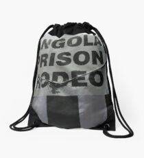 Angola Prison Rodeo distressed rough looking - the wildest show in the South Drawstring Bag