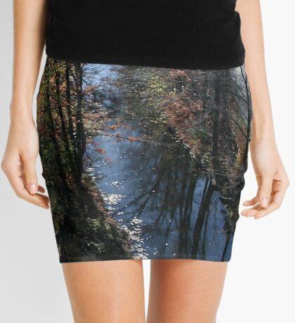 Blackstone Canal in Autumn Mini Skirt