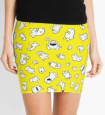 Dino-mite! (Yellow) Mini Skirt