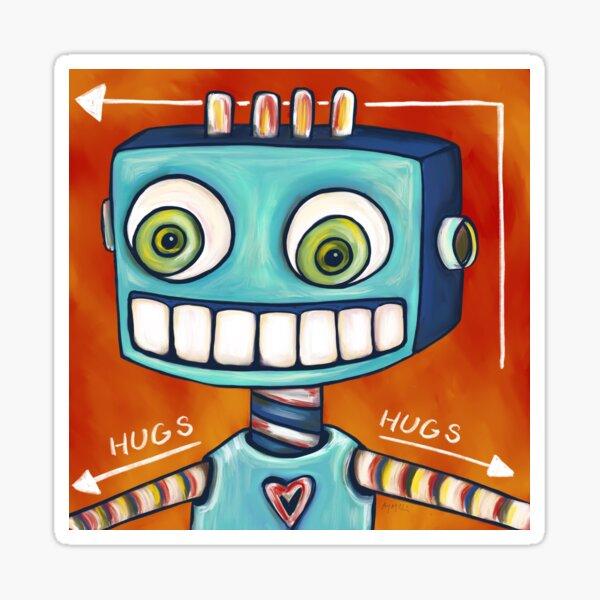Robot Hugs This Way =====> Sticker