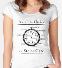 die Wahl des Steins Tor Tailliertes Rundhals-Shirt