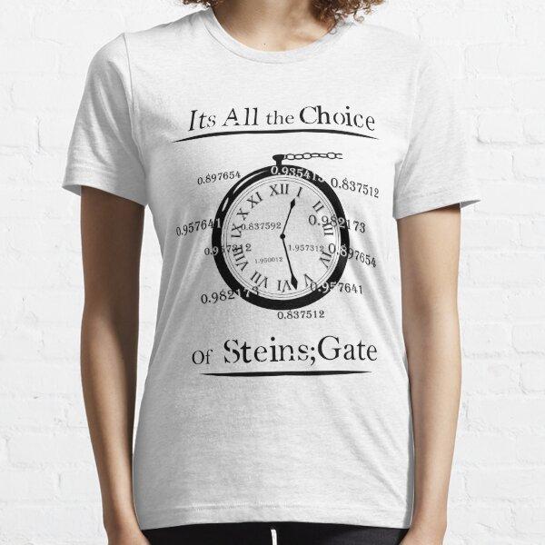 la elección de steins gate Camiseta esencial