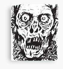 Zombie grimaces Canvas Print
