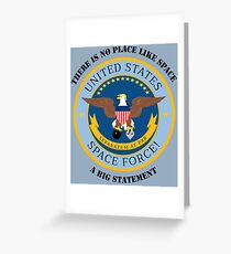 United States Space Force! Military Service Mark Greeting Card