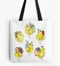 Easter Chicks & Eggshell Baskets Tote Bag