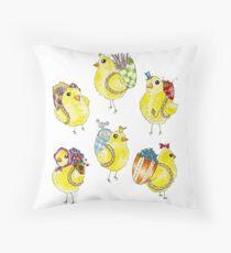 Easter Chicks & Eggshell Baskets Floor Pillow