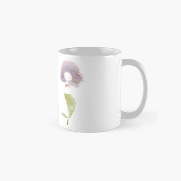 Disco Watercolor Mermaid Classic Mug