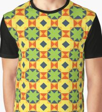 forms design illustration lines reason seamless colorful repeat pattern Graphic T-Shirt