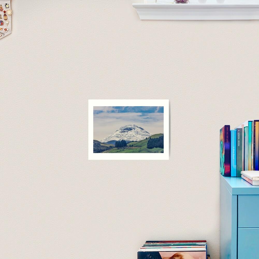 Mount Chimborazo snow-covered mountain Art Print