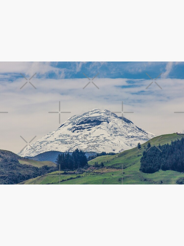 Mount Chimborazo snow-covered mountain by kpander