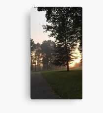 Fog at Sunset after Class  Canvas Print