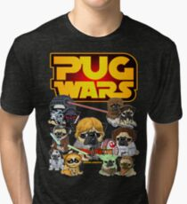 PUG WARS Tri-blend T-Shirt