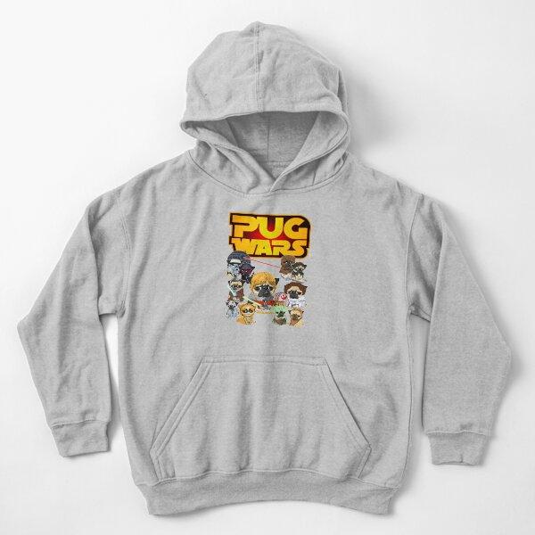 PUG WARS Kids Pullover Hoodie