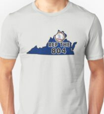 REP THE 804 - POPULAR DISTRESSED DESIGN WITH STATE FLAG AND AREA CODE 804 Unisex T-Shirt