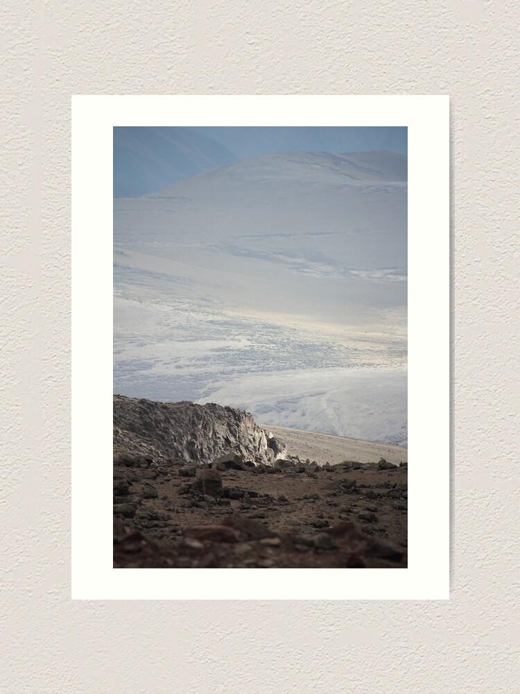 Alternate view of Mount Chimborazo valley landscape Art Print