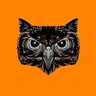 Pagan Animals - Black Owl Face by Nishita Wojnar