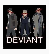 Detroit: Become Human- Kara, Connor, Markus ll Deviant version.  Photographic Print