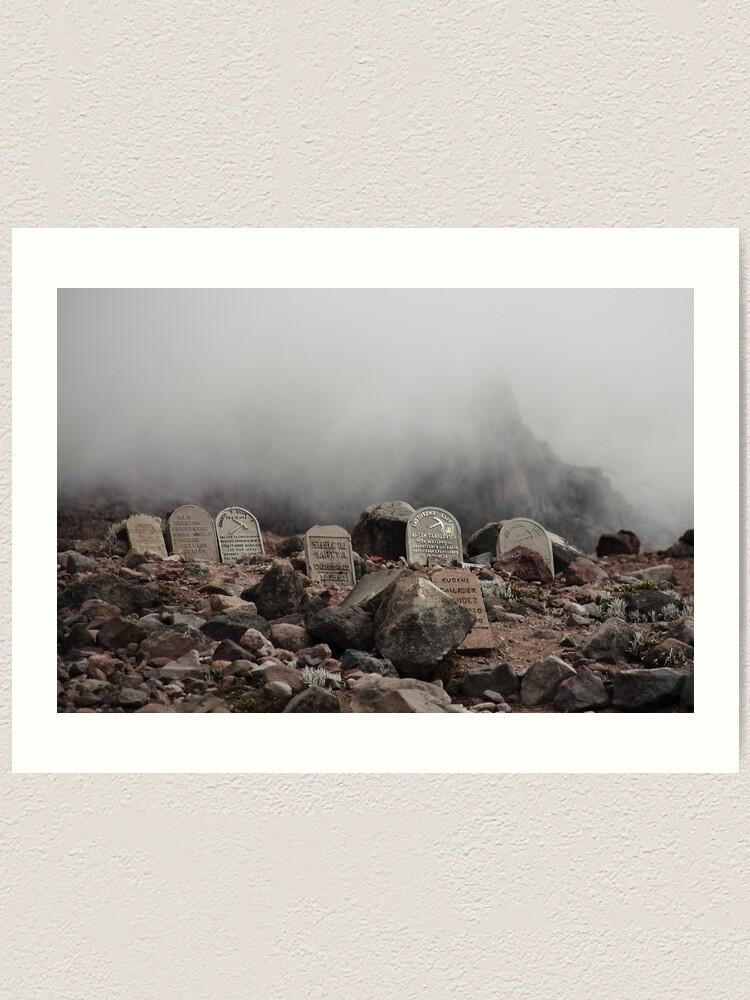 Alternate view of Mountain grave stones head stones Art Print
